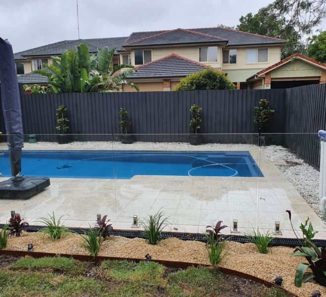 Pool fencing and poolscapes